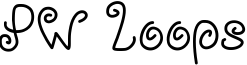 PW Loops Font
