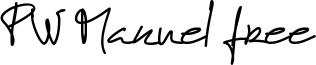 PW Manuel free Font