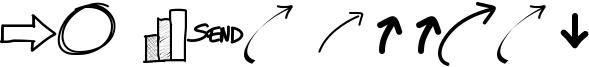 PW New Arrows Font