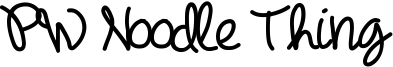 PW Noodle Thing Font
