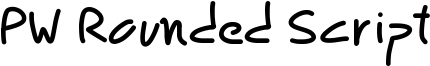 PW Rounded Script Font