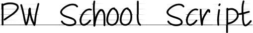 PW School Script Font