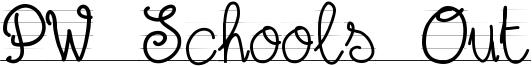 PW Schools Out Font