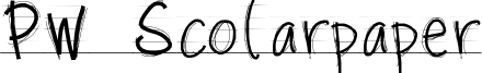 PW Scolarpaper Font