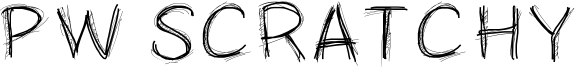 PW Scratchy Font