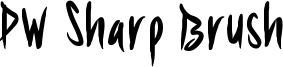 PW Sharp Brush Font