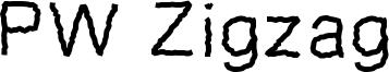 PW Zigzag Font