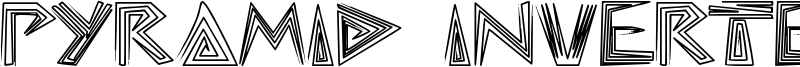 Pyramid Inverted Font