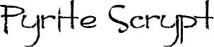 Pyrite Scrypt Font