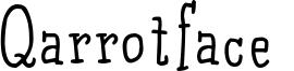 Qarrotface  Font