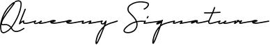 Qhueeny Signature Font