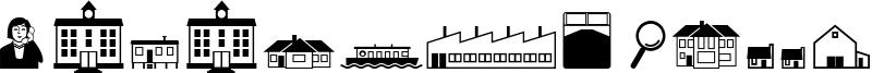 Qikicons Real Estate Font