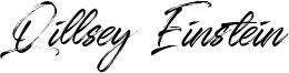 Qillsey Einstein Font