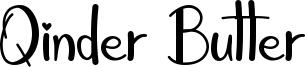 Qinder Butter Font