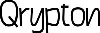 Qrypton Font