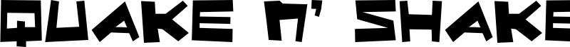 Quake n' Shake Font