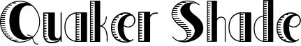 Quaker Shade Font