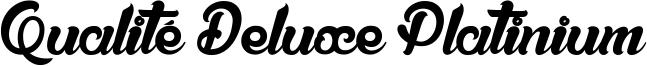 Qualité Deluxe Platinium Font