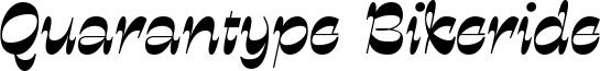 Quarantype Bikeride Font