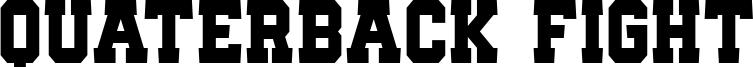 Quaterback Fight Font