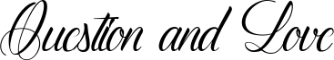 Question and Love Font