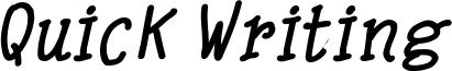 Quick Writing Bold Italic.ttf