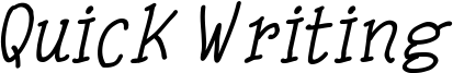 Quick Writing Italic.ttf