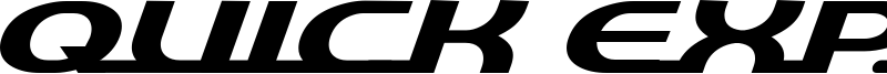 Quick Express Font