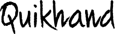 Quikhand Font