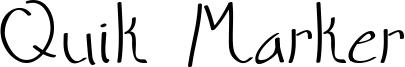 Quik Marker Font