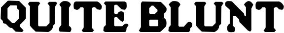 Quite Blunt Font