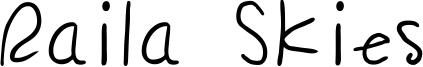 Raila Skies Font
