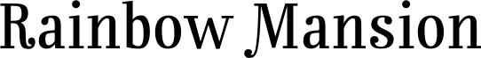 Rainbow Mansion Font