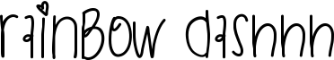 Rainbow Dashhh Font
