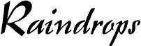 Raindrops Font