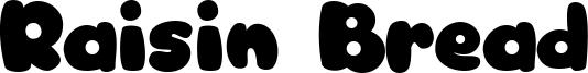 Raisin Bread Font