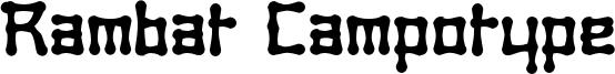 Rambat Campotype Font