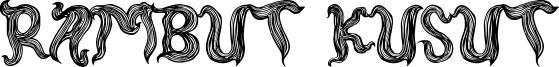 Rambut Kusut Font