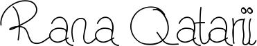 Rana Qatarii Font
