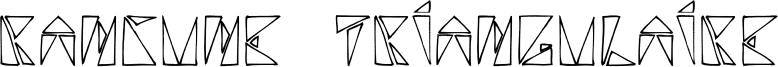 Rancune Triangulaire Font