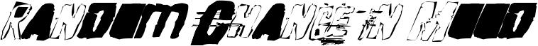 Random Change In Mood Font