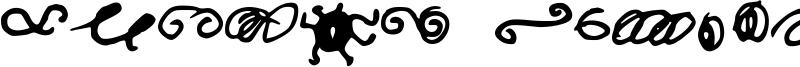 Random Swirls Font