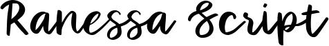 Ranessa Script Font