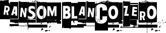 Ransom Blanco Zero Font