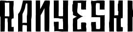 Ranyeski Font