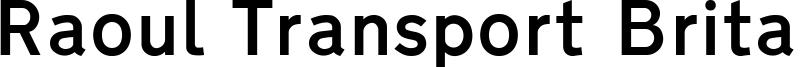 Raoul Transport Britannique Font