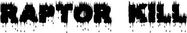 Raptor Kill Font