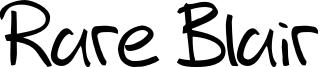 Rare Blair Font