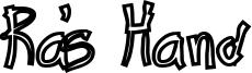 Ra's Hand Font