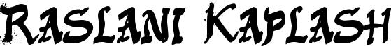 Raslani Kaplash Font
